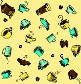 Coffee and Accessories Sketchy Icons