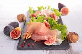 prosciutto ham and fresh fig