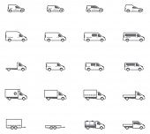 picture of cistern  - Set of the different types of commercial transport vehicles  - JPG