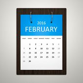 An image of a stylish calendar for event planning february 2016