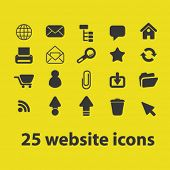 25 website, internet, page, interface concept - flat isolated icons, signs, illustrations set, vector