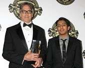 LOS ANGELES - FEB 15:  John Lindley, Tony Revolori at the 2015 American Society of Cinematographers Awards at a Century Plaza Hotel on February 15, 2015 in Century City, CA