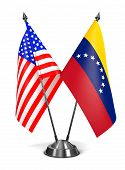 USA and Venezuela - Miniature Flags.