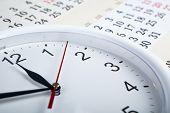 Sheet Of A Calendar With Clockface