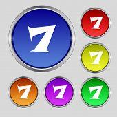 foto of number 7  - number seven icon sign - JPG