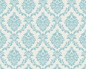 Vector seamless damask pattern. Ornate vintage background