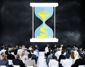 picture of time study  - Time Sand Glass Hour Glass Finance Saving Concept - JPG