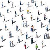 Large Group of People Communication Diversity Community Concept