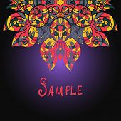 Abstract flourish colorful vector background ethnic paisley ornament