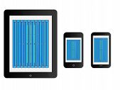 Mobile Devices With Swimming Pool Black