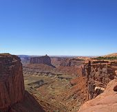 Deep Canyon In Canyonlands National Park