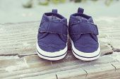 Blue Newborn Shoes