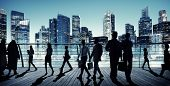 pic of commutator  - Business People Global Commuter Walking City Concept - JPG