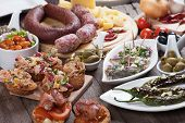 Tapas or antipasto food, mediterranean appetizers great for parties