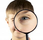 Kid Using Magnifying Glass