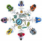 Ethnicity People Digital Internet Security Protection Concept