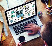 Businessman Big Data Data Center Website Working Concept