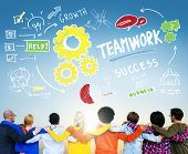 Teamwork Team Together Collaboration Diversity People Friendship Concept