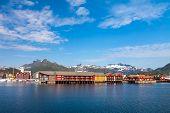 picture of lofoten  - Summer view to Svolvaer Lofoten Islands Norway - JPG