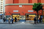 People Walking At Shop Paolo Calzature On May 31, 2014