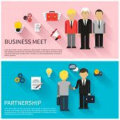 Concept of business meeting, teamwork, partnership