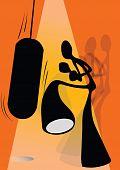 shadow man boxing