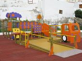 picture of chute  - For children to play at stairs nets chutes and bars - JPG