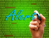Alert Password Login Virus Hackers Hand Binary Text