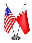 USA and Bahrain - Miniature Flags.