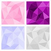 Pink, grey and violet triangle vector background