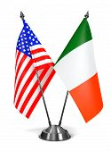 USA and Ireland - Miniature Flags.