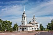 picture of church  - Alexander Nevsky Church is an Orthodox church in Vologda an architectural monument of the 18 century Russia - JPG