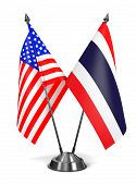 USA and Thailand - Miniature Flags.