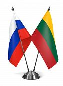 Russia and Lithuania - Miniature Flags.