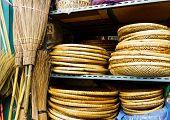 Wicker handmade wooden basket for sell