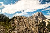 picture of italian alps  - a sign on a rock in the italian alps - JPG