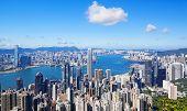 hong kong city at day