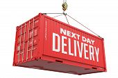 Next Day Delivery on Red Metal Container.