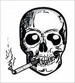 Hand draw Skull with Bones