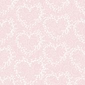 Vector seamless pattern with wreathes and swirles