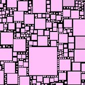 Pink colour squares on a black background.
