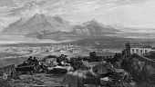 Town And Isthmus Of Corinth