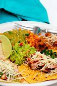 Comida de carnitas Taco