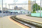 Moscow. Platform Of Rizhsky Railway Station