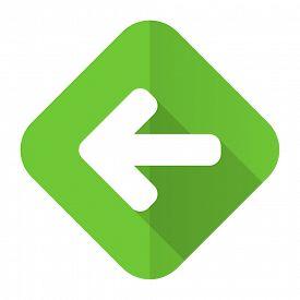 image of arrow  - left arrow flat icon arrow sign  - JPG