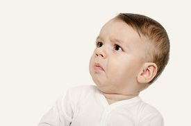picture of disgusting  - Baby looking disgusted - JPG