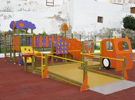 pic of chute  - For children to play at stairs nets chutes and bars - JPG