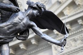 stock photo of ero  - Statue of Eros in Piccadilly Circus London - JPG