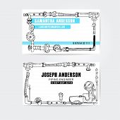 picture of steampunk  - Steampunk style business cards design - JPG