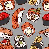 foto of sushi  - Japanese cuisine - JPG